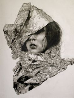 40fakes #metallic #collage #uncombed #woman