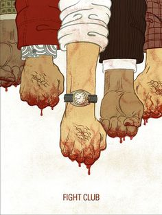 Fight Club by Meen Choi #illlustration #design #drawing #poster