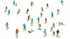 Illustration Archive harrydrawspictures #pattern #ski #skiing #people #illustration