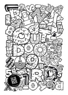Out-Door09 on the Behance Network #urban #elantidoto #illustration #art #street #poster #typography