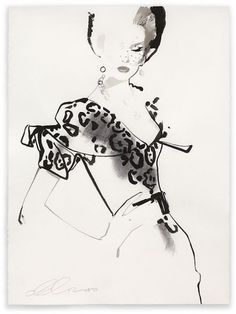 David Downton | Shiro to Kuro #fashion #illustration #black