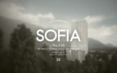 Sofia by Pelli Clarke Pelli Architects on the Behance Network #logo #brand #identity