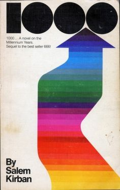 Vintage Cover #vintage #poster #rainbow #shapes