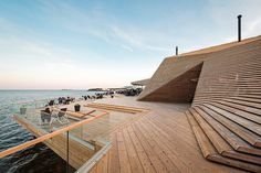 Loyly, a new public sauna, is located just along the vibrant Finnish coastline (hernesaarenranta 4, Helsinki, Finland). Designed by local st