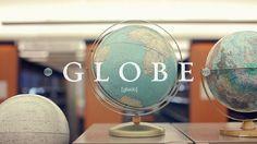 Nick Brue - Personal network #film #globe #white #typography