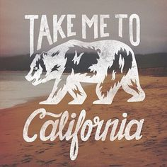 Take me to California | Inspiration DE #typography #type #hand lettering