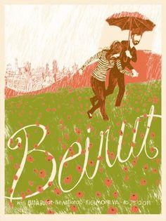 - Beirut : www.leslieherman.com #leslie #herman #screenprinting #poster