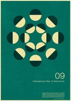 excites | Graphic Designer | Simon C Page #year #print #astronomy #graphic #poster