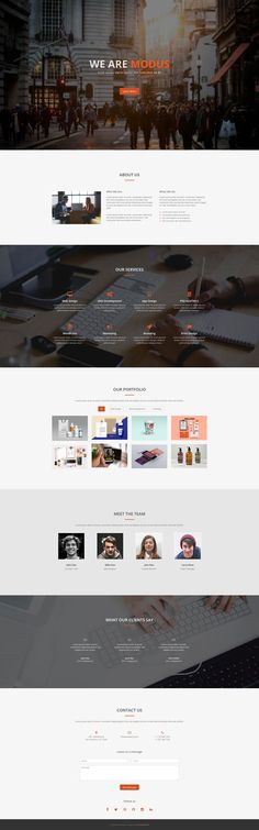 Modus - Free One Page Bootstrap Template #onepage #template #responsive #html #bootstrap