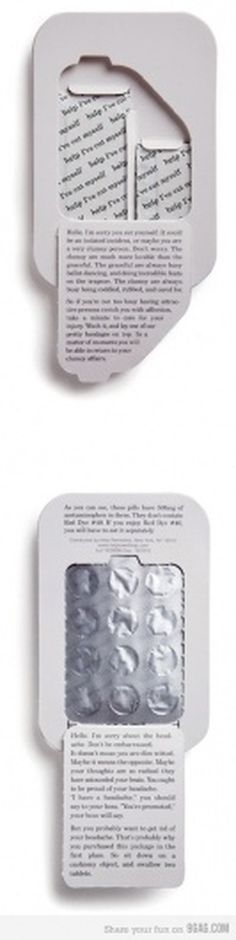 Awesome first aid packaging