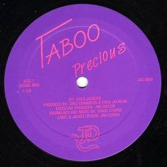precious_-taboo.jpg (422×424) #disco #label #vinyl #purple #80s #music #boogie #typography