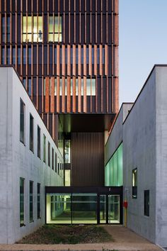 Mantois Technology Centre features moveable timber shutters