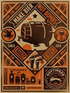 Hoptinger #kidd #bier #illustration #poster #kendrick #hoptinger