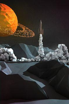Lift Off #planet #c4d #3d #rocket ship