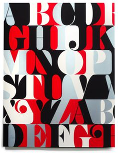 PLINC CASLON ALPHABET PRINT #poster #typography