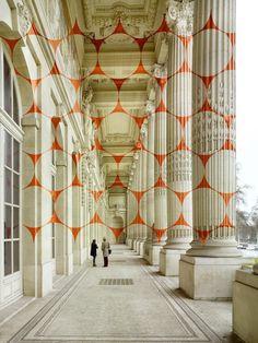 Geometric Projection by Felice Varini in Paris Imgur #paris #illusion #geometric