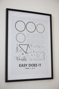 Easy Does it #cycling #bikes #illustration #poster