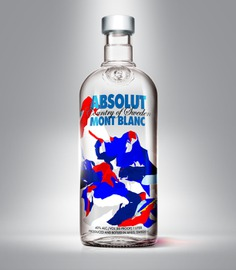 Absolut Mont Blanc pattern for packaging by Andrei Robu www.robu.co