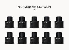 Commodity. 10 fragrances for men. #white #packaging #black #website #fragrance #photography #minimal #leather #and #typography