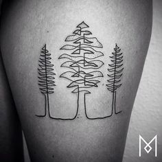Unique Linear Tattoos Design #Tattoo #body art #ink #tattoo art #linear tattoo
