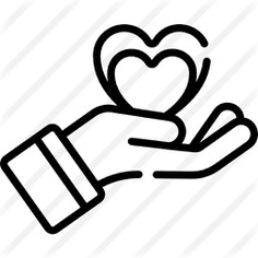 See more icon inspiration related to sympathy, healthcare and medical, hands and gestures, Solidarity, charity, donate, donation, heart and hand on Flaticon.