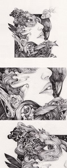 CROQUIS. A Drawing Exhibition on Behance #ink #white #design #black #complex #illustration #painting #and #drawing #sketch