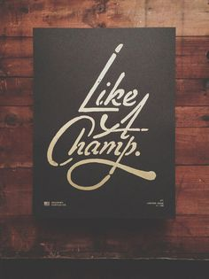 this isn't happiness™ (Like a champ) #lettering #script #design #graphic #poster #hand #typography