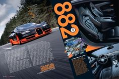 Gas Creative Print #fastest #veyron #worlds #spread #car #magazine