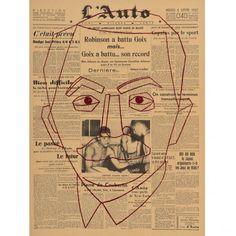 """Eduardo Arroyo (né en 1937) - Le Baron de Pierre de Coubertin à""""l'Auto"""", 1997[...], De la Boxe , etc… Collection Eduardo Arroyo àPias"""