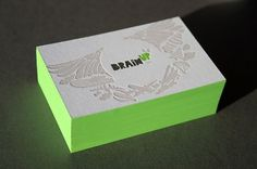 Blush°° Bespoke & custom letterpress printing in the UK #edge #business #card #design #paint #green