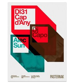 intriguing use of shape with a fun interplay of color...design by Marin Dsgn... #poster #typography