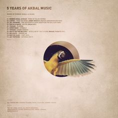 5 Years of Akbal Music on the Behance Network #tropical #butterfly #music #collage #parrot