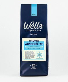 Wells Coffee packaging