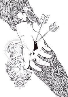 untitled #hand #bite #illustration #bw #love #timeless