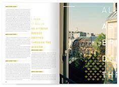 yellow type #editorial design
