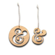 Ugmonk — AMPERSAND ORNAMENTS (SET OF 2) #monk #ug