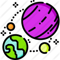See more icon inspiration related to space, miscellaneous, solar system, astronomy, universe, sun, planets and nature on Flaticon.