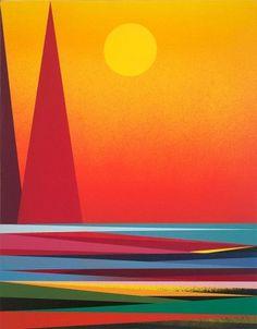 Amazing Paintings by Mark Warren Jacques | -::[robot:mafia]::- .ılılı. electronic beats ★ visual art .ılılı. #mark #jacques #illustration #nature #warren #mountains