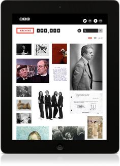 BBC Archive #bbc #ipad #interaction #application #website #archive #app
