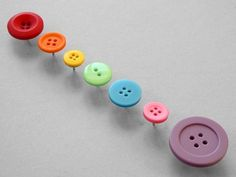 Present&Correct - Button Pins #inspiration #button #colors #pins #push
