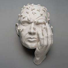 Kate MacDowell - #sculpture #man #person #concept #plaster #fly