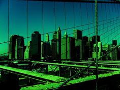 Nouvelle York 2010 on Behance #lines #wallb #new #york #bridge #green