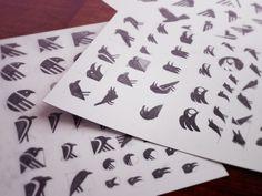 Sketching #7 #icon #ramotion #ios #appstore #icons #bird #app #sketches #logo #pencil #raven #sketch