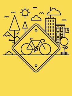 alexlikesdesign | Life in the Bike Lane | Online Store Powered by Storenvy #yellow #lane #alex #black #bike #griendling