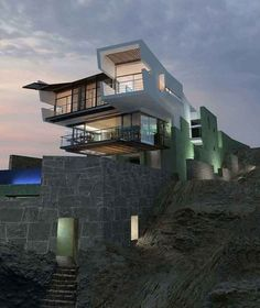 Rocky Cliff Lefevre House by Longhi Architects | GBlog #architecture #house