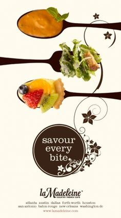 La Madeleine Menu Design by Linda Snorina at Coroflot #design #graphic #food