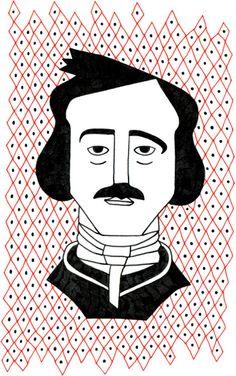 Edgar Allan Poe #drawing #illustration #edgarallanpoe #portrait #writer #author
