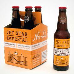 No-Li Jet Star Packaging #beer #packaging #label