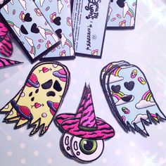 Nice patches by http://elfriedes.tumblr.com/ #inspiration #patch #eye #ghost