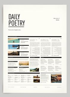 Daily Poetry Poster | Gridness #print #design #poster #grid #layout #daily poetry